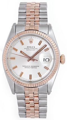 Rolex Datejust Men's 2-Tone Steel & Rose Gold Watch 1601