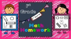 This Math Homework - 1st Grade - 1st Quarter is a great weekly homework packet that will review all common core strands on a weekly basis.  It is very kid-friendly, easy to read, examples are given for most problems, and it's packed with real work...not just time-wasting work.