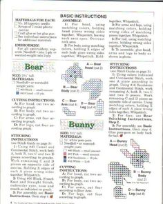 PC CRITTERS by SANDRA MILLER MAXFIELD 2/9 **BEAR & BUNNY** ****ALL ANIMALS USE BEAR AND BUNNY PARTS TO COMPLETE PROJECTS EXCEPT PENGUIN AND TURTLE**********