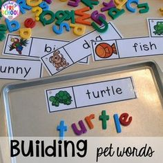 Pet Themed Activities and Centers - Kids Names - Ideas fo Kids Names - Pet themed activities and centers (freebies too) for preschool pre-k and kindergarten (math writing letters rhyme sensory art blocks STEM dramatic play). Pre K Activities, Preschool Learning Activities, Preschool Classroom, Pet Theme Preschool, Car Activities For Toddlers, Preschool Printables, Activities For 4 Year Olds, Crafts For Preschoolers, Creative Curriculum Preschool