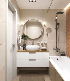 remodel a bathroom is no question important for your home. Whether you pick the small bathroom storage ideas or bathroom renovations, you will make the best serene bathroom for your own life. Small Bathroom Storage, Modern Bathroom Design, Bathroom Interior Design, Bathroom Layout, Serene Bathroom, Bathroom Wall, Bathroom Ideas, Bedroom With Bathtub, Small Bathroom Designs