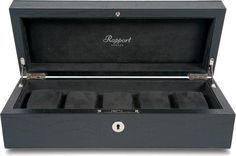Rapport - Portman 5 Watch Box - Black Crocodile Leather | L262