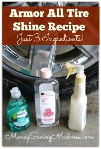 Homemade Armor All Tire Shine Recipe