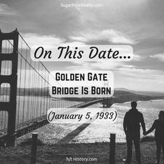 On This Date: Golden Gate Bridge Is Born (January 5, 1933) On This Date, Golden Gate Bridge, January, Cinema, Dating, Twitter, Movie Posters, Movies, Quotes