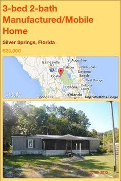 3-bed 2-bath Manufactured/Mobile Home in Silver Springs, Florida ►$23,000.00 #PropertyForSale #RealEstate #Florida http://florida-magic.com/properties/82133-manufactured-mobile-home-for-sale-in-silver-springs-florida-with-3-bedroom-2-bathroom