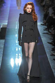 Jean-Paul Gaultier, Fall/Winter 2009. couture dark gray cutoff trenchcoat