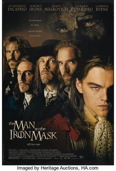 The Man In the Iron Mask John Malkovich, Gabriel Byrne, See Movie, Film Movie, Movies Showing, Movies And Tv Shows, Leonardo Dicaprio Movies, Metro Goldwyn Mayer, Bon Film