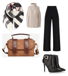 """Comfort at work"" by nkotovic on Polyvore featuring Burberry, Lands' End, Stella Luna and plus size clothing"