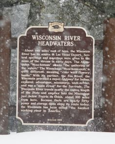 Wisconsin Historical Markers: Marker 21: Wisconsin River Headwaters