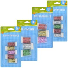 Crafter's Square Fine Glitter Shakers, Assorted Colors