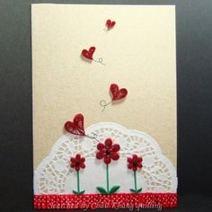 Unknown artist - quilled valentine and heart cards (Searched by Châu Khang)