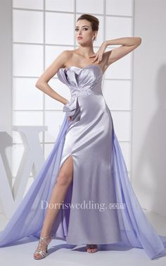 #Valentines #AdoreWe #Dorris Wedding - #Dorris Wedding Layered Ruched Sweetheart Ankle Length Satin Dress With Side Zipper and Beadings - AdoreWe.com
