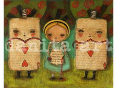 Who Painted The Roses Red  Giclee Reproduction Fom by DanitaArt, $15.00