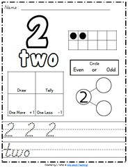 Wow!  Free number printables.  D'nealian style too!