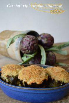 carciofi ripieni alla calabrese1 http://www.pastaenonsolo.it/carciofi-ripieni-alla-calabrese/