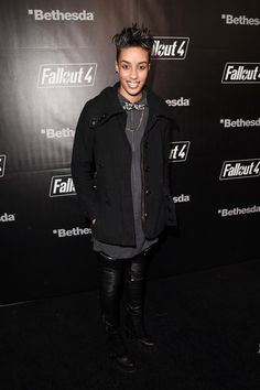 AzMarie Livingston Photos - Actress AzMarie Livingston attends the Fallout 4 video game launch event in downtown Los Angeles on November 2015 in Los Angeles, California. - 'Fallout Video Game Launch Event - Los Angeles, CA Azmarie Livingston, Fallout 4 Videos, Androgynous Girls, Downtown Los Angeles, In Hollywood, Video Game, Crushes, November, Product Launch