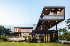 Loft House Design - 960 m² of space and comfort Mexico project images] ~ Art Facade Hunter Douglas, Loft House Design, Revit, Style Loft, Steel Columns, Ground Floor Plan, Loft Interiors, Showcase Design, Luxury Homes
