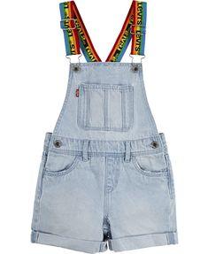 Levi's Little Girls Rainbow Logo Cotton Denim Shortalls & Reviews - All Girls' Dresses - Kids - Macy's Girls Fashion Clothes, Tween Fashion, Cute Fashion, Girl Fashion, Fashion Outfits, Fashion 101, Fasion, Cute Girl Outfits, Cute Summer Outfits