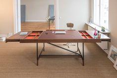 The series Desk follows Bullenberg's first product the table Arx. Highly customizable, the desk can be designed to suit your needs and complement your home or office. Image © Bullenberg