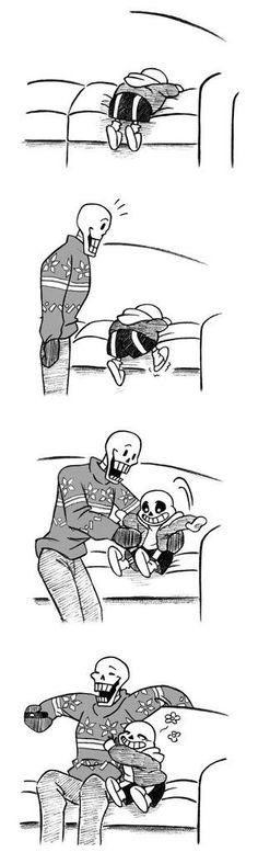 UT fanart-  Here to give you a boost sans and papyrus