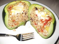 Eight Ball Zucchini Stuffed with Rice, Basil and Sun-Dried Tomatoes photo