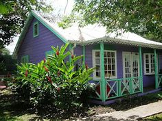 one of the Chattel Houses in the shopping village, Holetown