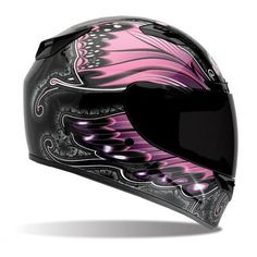 Bell Vortex Monarch Pink Full Face Motorcycle Helmet....one day I'd really like to own a Harley (pink of course) ;)