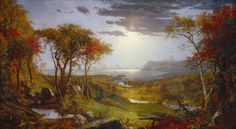 """Jasper Francis Cropsey, """"Autumn - On the Hudson River,"""" 1860, oil on canvas, National Gallery of Art, Washington, Gift of the Avalon Foundation"""