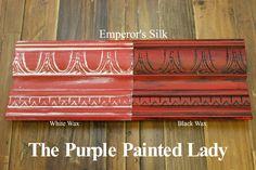 The Purple Painted Lady Scandinavian Pink Chalk Paint Annie Sloan Black White Wax