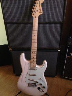 Fender Lipstick Strat Nitro White Ash w/ Am Special Maple Neck   Reverb