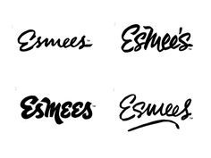 Esmees logo directions by Jason Carter