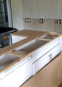 DIY Reclaimed Wood Countertop - adding a layer of MDF