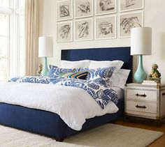 Add a pop of color to accent your classic white duvet cover and pillow cases