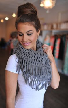 Dottie Couture Boutique -  Fringe Infinity- Grey