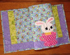 Quilted EASTER Placemats . . . appliquebunnyinacup. by pdqdesigns