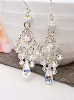 Crystal chandelier earrings crystal bridal by CreativityJewellery, $85.00