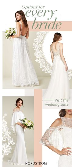 Discover styles for every bride, whether you're looking for a classic gown or an unconventional little white dress. The Nordstrom Wedding Suite is home to dresses for every body and every budget. Visit in store and take advantage of advice from expert Wedding Stylists or shop the collection online today.