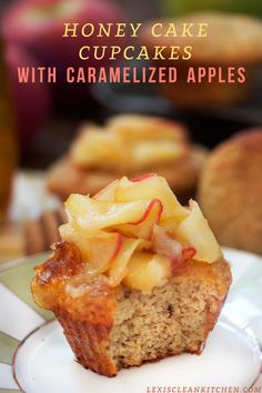 Honey Cake Cupcakes with Caramelized Apples | 18 Apple And Honey Recipes That Will Impress Your Jewish Grandma
