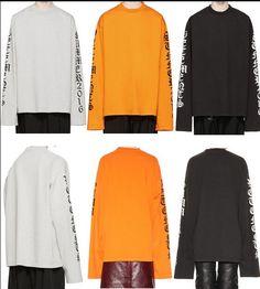 Camisa de grandes dimensões t de roupas urbanas presa harajuku kpop 2016SS kanye west das mulheres dos homens de manga longa carta impressa justin bieber tee