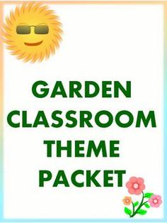 42 pages of resources in a garden theme for back to school or gardening unit. This zip file includes a MS Word newsletter template, binder co. Garden Theme Classroom, Classroom Jobs, Classroom Organization, Classroom Decor, Preschool Garden, Preschool Science, School Themes, Elementary Music, School Lessons