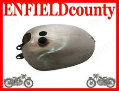 BRAND NEW REPRODUCTION VINCENT HRD BLACK SHADOW RAW STEEL FUEL TANK