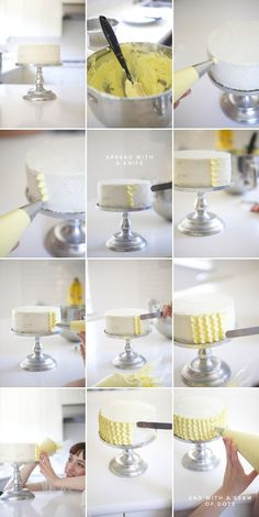 how to scallop frost a cake