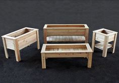 Lots of sizes - good reference http://eartheasy.com/natural-cedar-raised-garden-planter