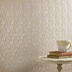 Silken Stria Golden Wallpaper by Graham and Brown