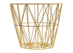 Yellow wire basket, Ferm Living.
