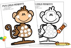 Download this free Five Little Monkeys dot marker activity when you sign up for Speech Sprouts Newsletter. It's perfect for open-ended fun in preschool and kindergarten. Use this speech therapy activity to use after reading The Five Little Monkeys books or learning the fingerplay. Kids Learning Activities, Kindergarten Activities, Preschool Speech Therapy, Five Little Monkeys, Dots Free, Do A Dot, Dotted Page, Beginning Of The School Year, Email List