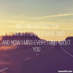 I Never Told You by Colbie Caillat. Lyrics