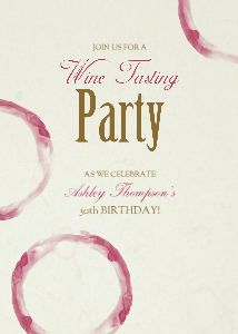 Wine Tasting Party Invitation BP3 Wine tasting party Party