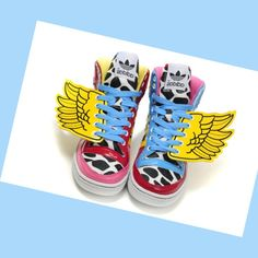 finest selection 397aa 5f5b0 Online Cheap Adidas Originals Jeremy Scott 2NE1 Yellow Wings Wings Sneakers  HOT SALE! HOT PRICE!
