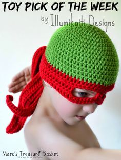 Toy Pick of the Week - Handmade Turtle Ninja Hat - Halloween Costume